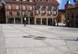Main Square paving at Benavente