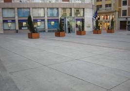 Constitución Square paving at Zamora
