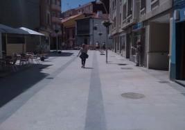 Peatonalización de calles en Luanco (Asturias)